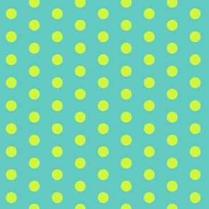 Lime Polkadot