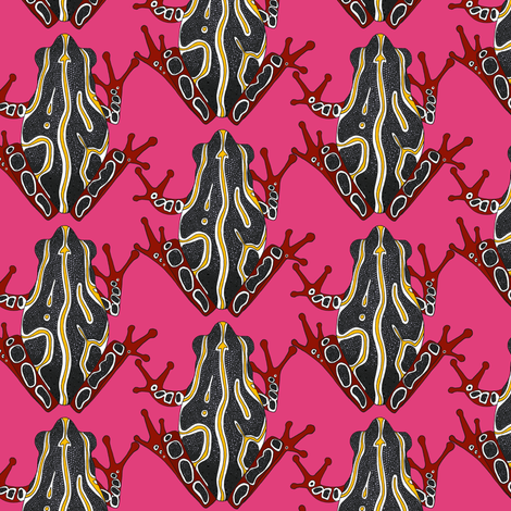 congo tree frog pink fabric by scrummy on Spoonflower - custom fabric