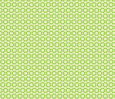 daisysweet green fabric by myracle on Spoonflower - custom fabric