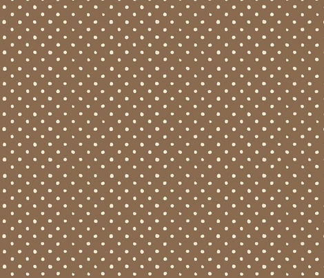 Brown Polka Dot Madness fabric by bella_modiste on Spoonflower - custom fabric