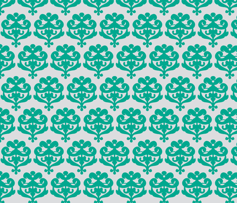 wall of flowers green fabric by myracle on Spoonflower - custom fabric
