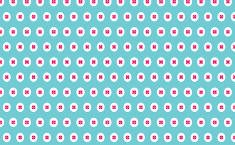 flower cameo blue fabric by myracle on Spoonflower - custom fabric