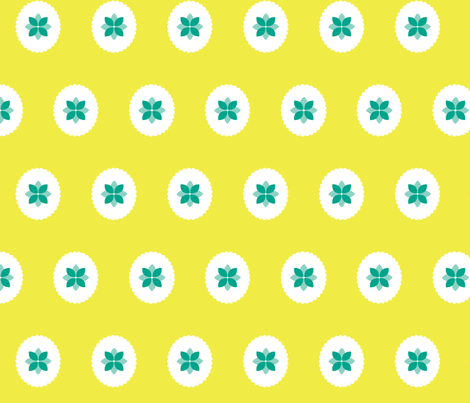 flower cameo fabric by myracle on Spoonflower - custom fabric
