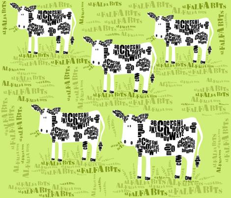 AlfalfaBits  {alphabets} fabric by bzbdesigner on Spoonflower - custom fabric