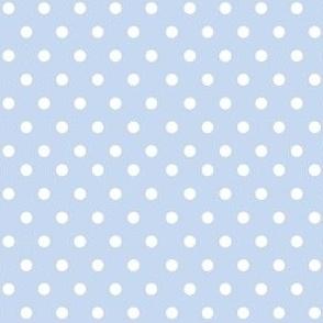 Pale Blue Polka Dots