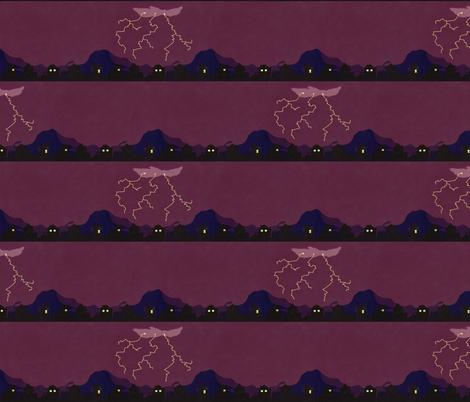Lightning Strikes on Chesnut Lane fabric by melodycharlotte on Spoonflower - custom fabric
