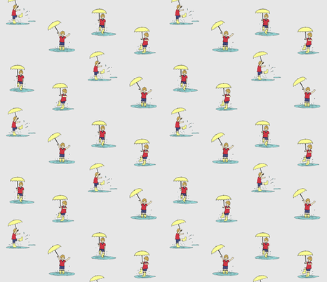 Summer_Rain fabric by royalrhubarb on Spoonflower - custom fabric
