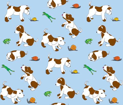 frogs and snails and puppy dog tails fabric by victorialasher on Spoonflower - custom fabric