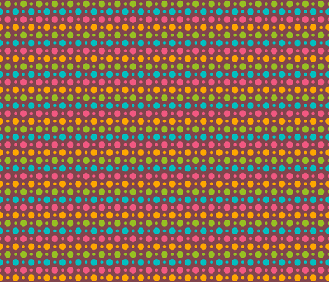chocolate and polka dots fabric by artsycanvasgirl on Spoonflower - custom fabric