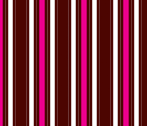pink and brown stripe fabric by artsycanvasgirl on Spoonflower - custom fabric
