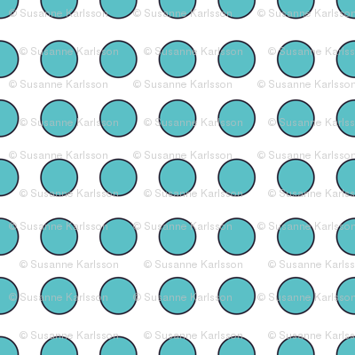cyan dots