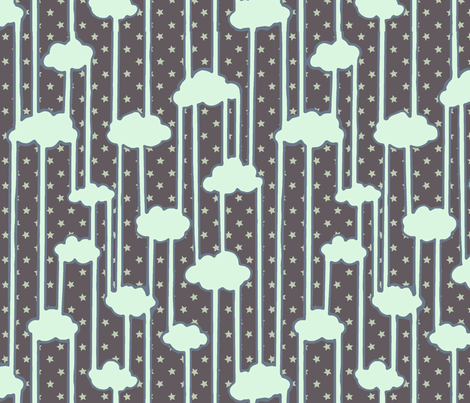 Water Cycle Starry fabric by shirayukin on Spoonflower - custom fabric