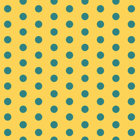 Turquoise Polkadot fabric by pond_ripple on Spoonflower - custom fabric