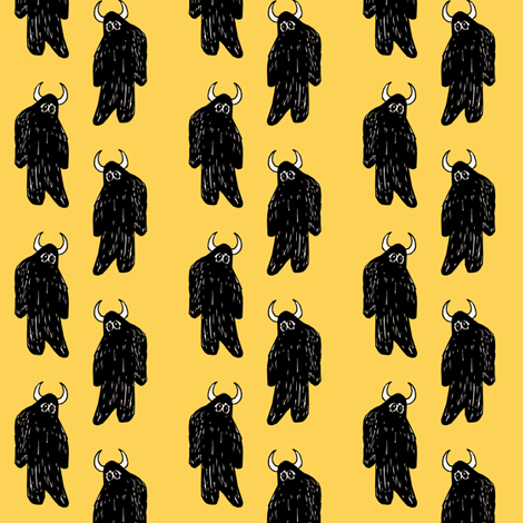 Gold Yeti fabric by pond_ripple on Spoonflower - custom fabric