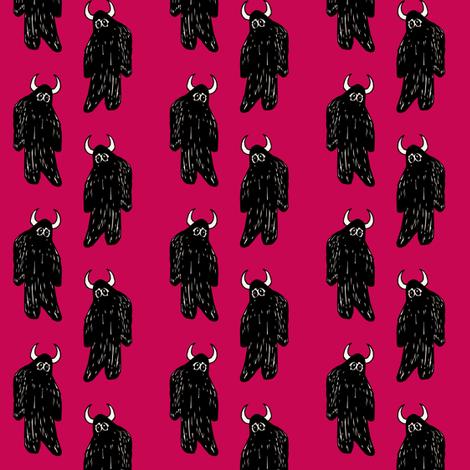 Fuchsia Yeti fabric by pond_ripple on Spoonflower - custom fabric