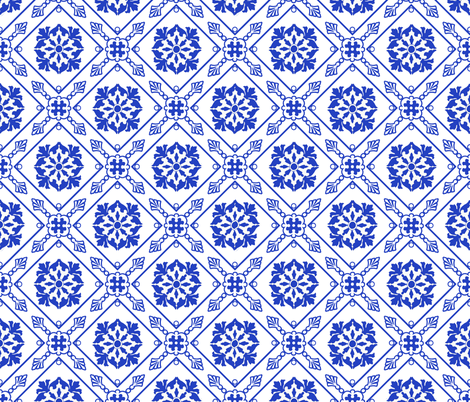 Blue and White Picnic fabric by poetryqn on Spoonflower - custom fabric