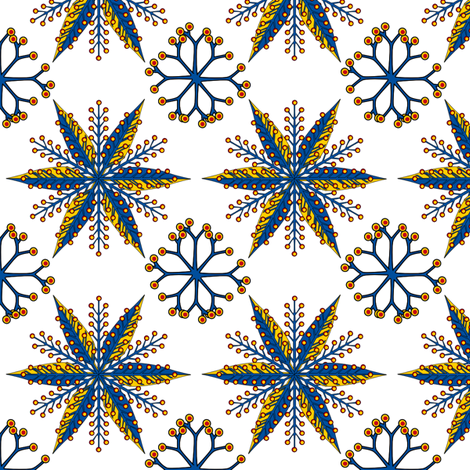 ©2011 Nordic Primary fabric by glimmericks on Spoonflower - custom fabric