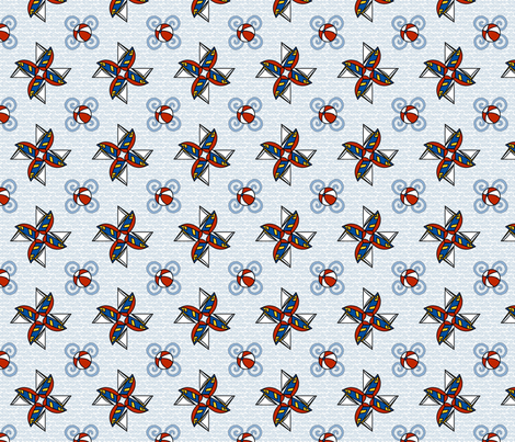 ©2011 WLBAMO - Sailing the Waves fabric by glimmericks on Spoonflower - custom fabric