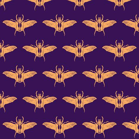 scarabs in flight peach/purple fabric by tallulah11 on Spoonflower - custom fabric