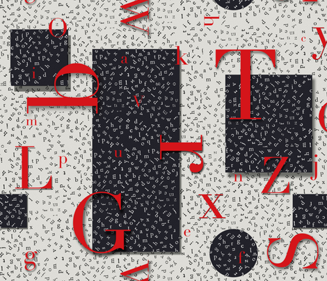 Alphabet Geometrics fabric by poetryqn on Spoonflower - custom fabric