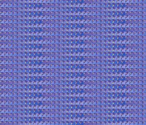 COPYRIGHT 2011 quilt slide hydrangea lavender blue fabric by glimmericks on Spoonflower - custom fabric