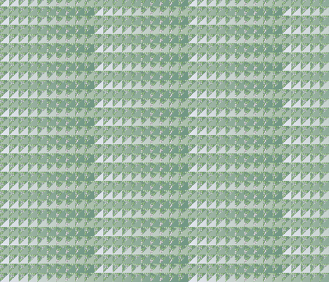 ©2011 quilt slide hydrangea green fabric by glimmericks on Spoonflower - custom fabric