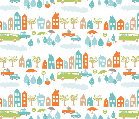 Standing Water (white colorway) fabric by jennartdesigns on Spoonflower - custom fabric