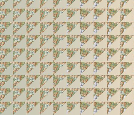 © 2011 quilt big hydrangea bone tan fabric by glimmericks on Spoonflower - custom fabric
