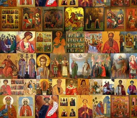 Saints fabric by quinnanya on Spoonflower - custom fabric