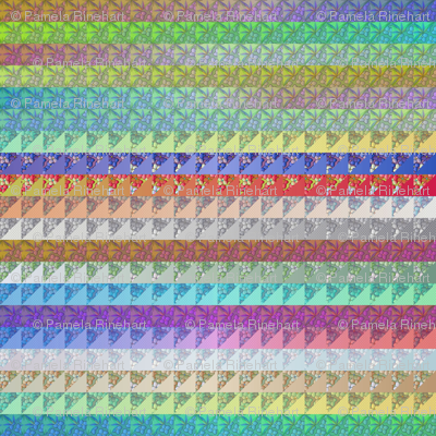 © 2011 quilt multi - mirrored 12 inch width repeat