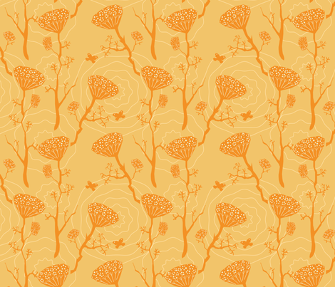 Dill golden fabric by bee&lotus on Spoonflower - custom fabric