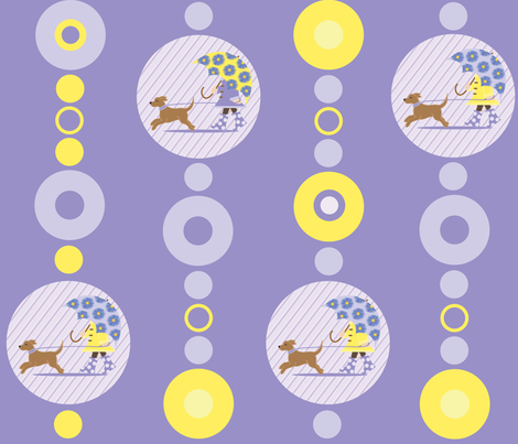 Circle Time Rain fabric by jenniferfranklin on Spoonflower - custom fabric