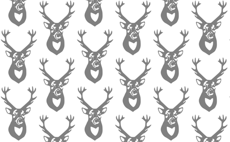 Gray Deer fabric by efolsen on Spoonflower - custom fabric