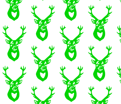 Green Deer fabric by efolsen on Spoonflower - custom fabric