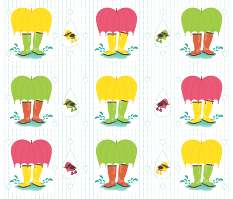 Rubber Boots fabric by bsrochon on Spoonflower - custom fabric