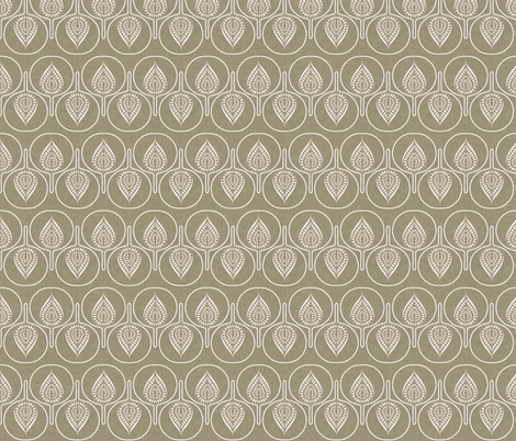tree_hearts_linen fabric by holli_zollinger on Spoonflower - custom fabric