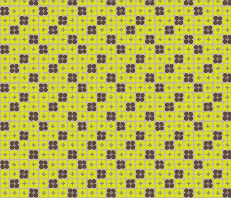 clover (earth) fabric by mossbadger on Spoonflower - custom fabric