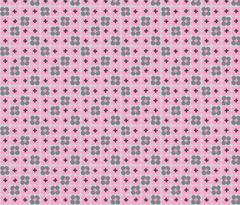 clover (pink) fabric by mossbadger on Spoonflower - custom fabric