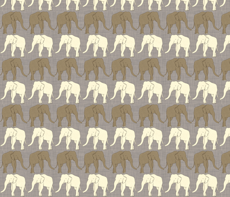 elephants_in_linen fabric by holli_zollinger on Spoonflower - custom fabric
