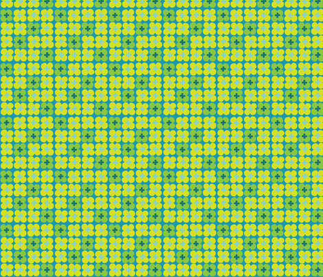 clover (teal) fabric by mossbadger on Spoonflower - custom fabric