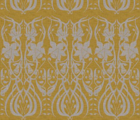 burlap_flowerscape fabric by holli_zollinger on Spoonflower - custom fabric