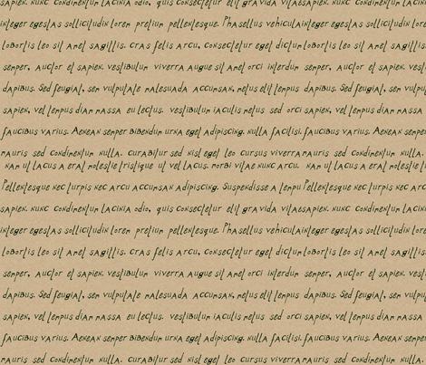 alphabet_print_latin_kraft_italic fabric by wiccked on Spoonflower - custom fabric