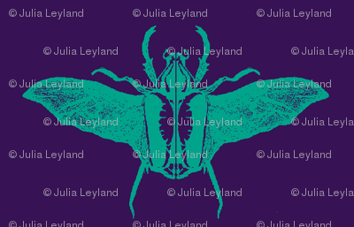 scarabs in flight turquoise/purple