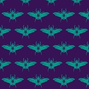 scarabs in flight turquoise/purple