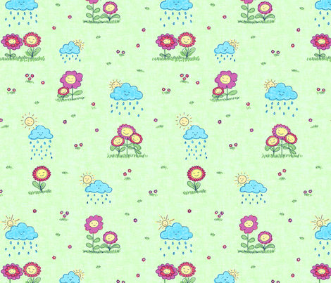 april_showers_bring_may_flowersA fabric by twilltextiledesign on Spoonflower - custom fabric