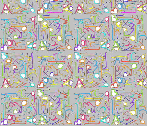 alphabet6 fabric by wiccked on Spoonflower - custom fabric