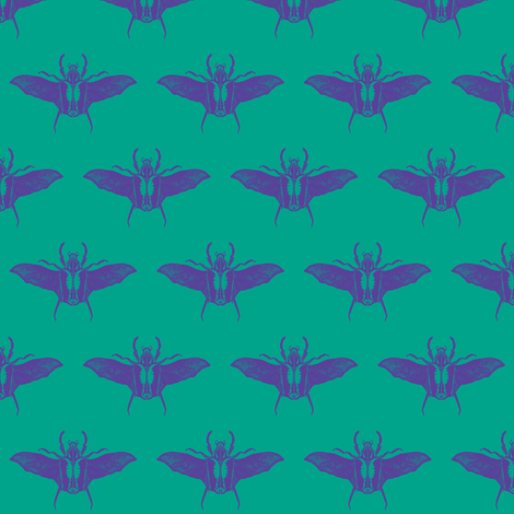 scarabs in flight lilac/turquoise fabric by tallulah11 on Spoonflower - custom fabric