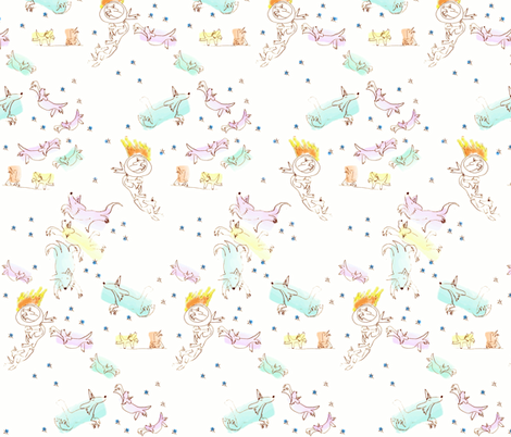 Circus Dogs fabric by luckybucket on Spoonflower - custom fabric