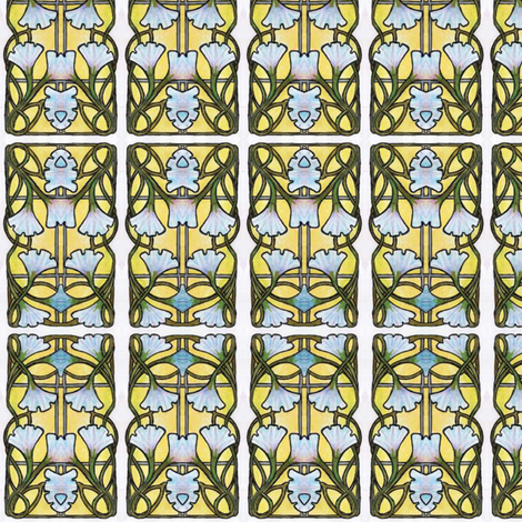 morning glory morning fabric by edsel2084 on Spoonflower - custom fabric