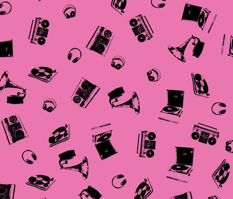 Music Machines fabric by candyjoyce on Spoonflower - custom fabric